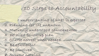 10 Steps to Accountability