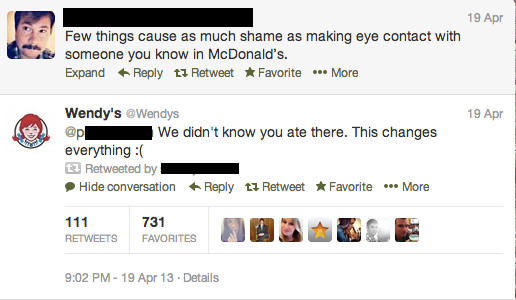 Wendys Twitter Exchange