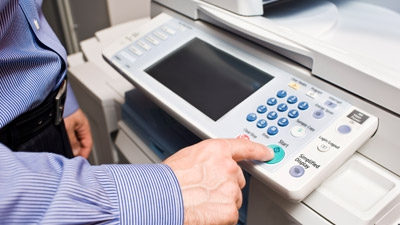 I am an attorney and have a security concern about using the office suite's copying machines. Do copy machines retain any sort of history of the images they copy?