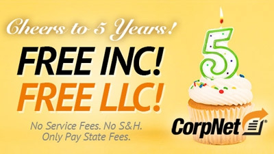 Celebrate with CorpNet.com: Free LLC and Incorporation Packages