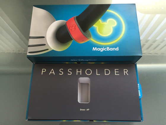 Disney MagicBands Packaging inside