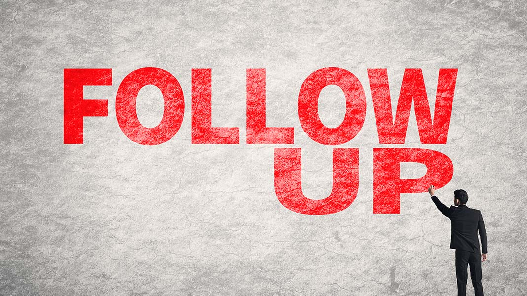 How to Master the Art of the Follow-Up
