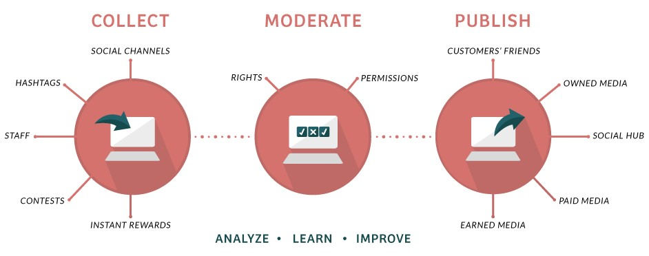 collect moderate publish