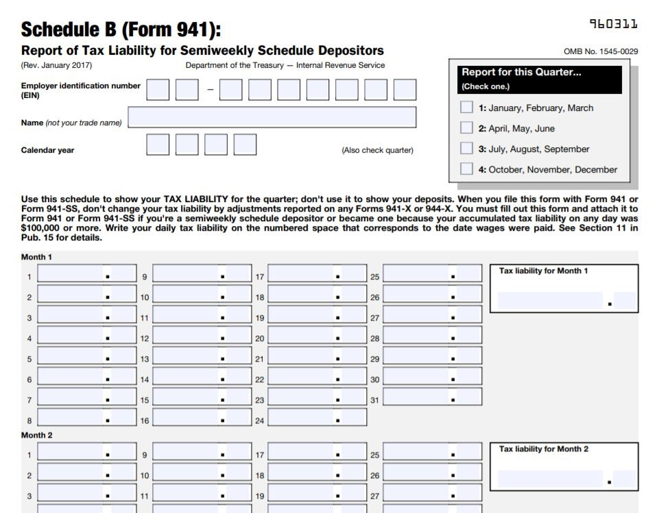 941 form directions  How to File Schedule B for Form 9 | SmallBizClub