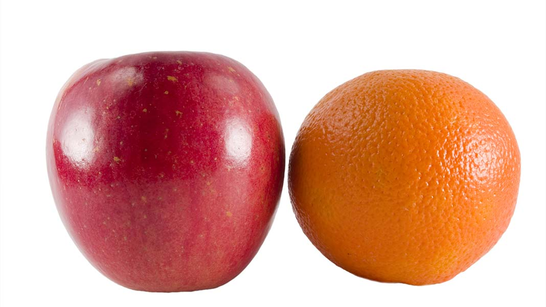 Apples and Oranges: A Problem for NPS